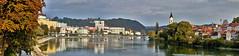 Passau Panorama (W_von_S) Tags: passau city stadt inn fluss river bavaria bayern deutschland germany cityscape stadtlandschaft wvons werner autumn herbst 2016 sony panorama outdoor
