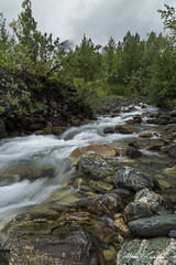 Boulder Creek (Alfred J. Lockwood Photography) Tags: alfredjlockwood nature landscape creek boulder bouldercreek thompsonpass afternoon alaska valdez borealforest overcast