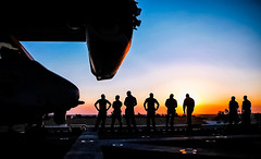 Sunset on the deck (The Sergeant AGS (A city guy)) Tags: suezcanal egypt sunset blue aircraftcarrier people colors travelling afternoon