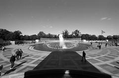 World War II Memorial (.:Axle:.) Tags: washington districtofcolumbia washingtondc usa capital capitalcity nationalcapital urban city downtown federaltriangle nikon nikonf5 afsnikkor1424mm128g kodak kodakplusx5431 plusx 5431 asa125