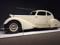 Rolling Sculpture - NC Museum of Art (jfmecca) Tags: car artdeco nc raleigh ncmuseumofart rollingsculpture classic 1934 packard twelve model1106 white iphone mobile
