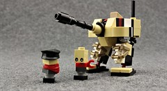 TU-138 with Commissar and Crewman (Deltassius) Tags: mfz mf0 lego mech mecha robot frame tank walker microscale space military war mobile zero