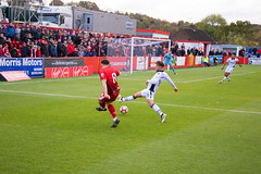 Alfreton Town (nonleaguepap) Tags: alfreton town newport county sky bet league 2 vanarama non football emirates fa cup green grass pitch red white socks shirts shorts