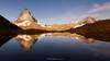 #010 Golden hour at Riffelsee (Enrico Boggia | Photography) Tags: riffelsee wallis vallese zermatt cervino matterhorn gornergrat reflextion schweiz svizzera morning enricoboggia ottobre 2016