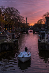Purple hour on the Prinsengracht (farflungistan) Tags: bluehour browersgracht canon7d fall2016 longexposure nightphoto amsterdam cityscape holland nederland netherlands sunset prinsengracht brouwersgracht