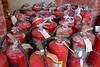 Suppression (pburka) Tags: fire extinguisher red tank cylinder safety pressurized protection