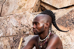Unmarried Himba Man 4023-2 (Ursula in Aus) Tags: africa namibia offcameraflash himba portrait male