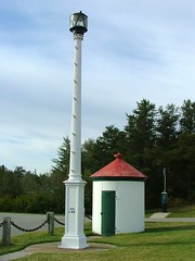 Whitefish Point Post Light (Larry Myhre) Tags: postlight oilhouse historic whitefishpoint michigan