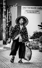 Country side woman (tumivn) Tags: street streetphotography old woman country side saigon hochiminh vietnam blackandwhite black white