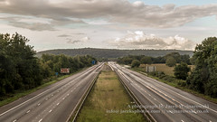 M5 cloudy (Jacek Wojnarowski Photography) Tags: road uk travel summer england motion blur horizontal clouds landscape automobile europe afternoon motorway outdoor transport somerset front transportation expressway superhighway 16x9 dayphotography
