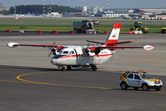 Arkhangelsk Aviation Let L410UVP-E RA-67602. 10-Aug-2015 (Sergey Kustov) Tags: airplane ramp russia moscow taxi aircraft aviation apron departure let airliner turboprop followme svo sheremetyevo arkhangelsk uuee l410uvpe ra67602