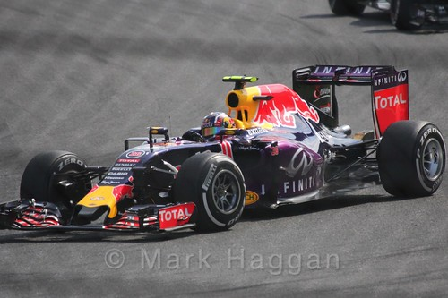 Daniil Kvyat in the 2015 Belgium Grand Prix