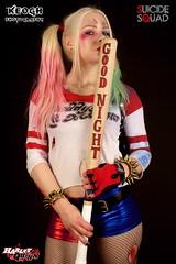 IMG_7240 (Neil Keogh Photography) Tags: blue red white black girl gold belt gun boots cosplay top trainers gloves goodnight bracelets dccomics pigtails spikes harleyquinn hotpants baseballbat studioshoot fishnettights suicidesquad borderfx modelnataliemiddlehurst