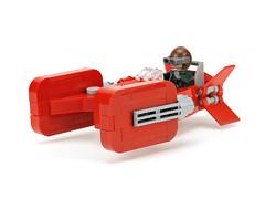 Red speeder (de-marco) Tags: starwars lego latvia speeder latvija latlug