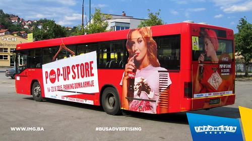 Info Media Group - Coca-Cola pop up store, BUS Outdoor Advertising, Sarajevo 08-2015 (2)