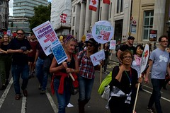 Refugee lives matter (IanAWood) Tags: london westend londonstreetphotography walkingwithmynikon nikkorafs35mmf14g nikondf