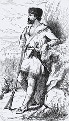 """""""Daniel Boone alone in the wilderness.""""  From """"Our Western Border"""" by Charles McKnight. Philadelphia: J. C. McCurdy & Co., 1881 (lhboudreau) Tags: illustration book etching drawing rifle illustrations drawings books engraving wilderness pioneers stories pioneer boone wildwest americanwest frontiersman narrative bookart mcknight engravings mccurdy danielboone hardcover americanhistory etchings historybook oldwest frontispiece 1881 coonskincap vintagebook westernhistory narratives vintagebooks classicbook theoldwest hardcovers classicbooks historybooks westernborder hardcoverbooks frontiersmen westernexpansion hardcoverbook vintagehardcoverbook classicstories charlesmcknight westernstories pioneerstories vintagestories mccurdyco vintagehardcoverbooks ourwesternborder jcmccurdy jcmccurdyco westernchronicles pioneerchronicles vintagehistorybook vintagehistorybooks"""