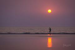 Enlightened! (Gladson777) Tags: sunset cloud sun india seascape beach colors landscape dusk vibrant sony maharashtra thane 1855 alpha mumbai streaks kalam slt a58 55200 vasai rajodi