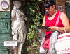 Do Not Distract (UrbanphotoZ) Tags: venice italy woman statue store ivy plate weathered armless tablet venezia shoppingbag torcello veneto arredidarte