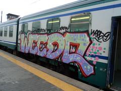 Graffiti on rolling stock in Rome
