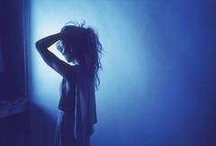 Still light (Ca$hReNo) Tags: light girl beauty silhouette studio skinny model vivid contax ambient windowlight carlzeiss contaxg2 aerochrome
