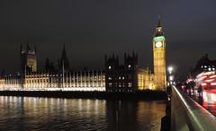 Parliament at Night (DncnH) Tags: longexposure reflection london westminster thames night river traffic housesofparliament parliament bigben westminsterbridge londonatnight