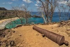 Vista do Forte sobre a baia do Sancho, Fernando de Noronha (pmenge) Tags: água mar canhão baia rochas 14mm samyang 7dii