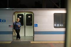 The Fremont-bound Train is a Lonely One (Tony P Iwane) Tags: train oakland publictransit publictransportation bart trains trainstation sanfranciscobayarea bayarea commuting rapidtransit bayarearapidtransit nikkor85mmf14ais