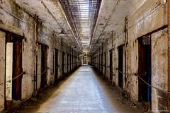 Eastern State Penitentiary Historic Site, Philadelphia, PA. [Explored] ©2015 Steven Karp (kartofish) Tags: abandoned philadelphia fuji unitedstates state prison fujifilm fairmount eastern hdr easternstatepenitentiary cellblock xt1 penitentiray