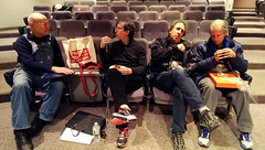 PRC Lecture: Mike Mandel & crew hangs out after lecture & booksigning (PRCBoston) Tags: boston prc bostonuniversity smfa mikemandel photographicresourcecenter schoolofthemuseumoffineartsboston prclectures baseballphotographertradingcards