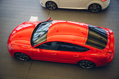 Red Audi A7 (Listers Group) Tags: listers automotive car vehicle event audi birmingham solihull stratford coventry nuneaton bmv honda skoda toyota jaguar landrover