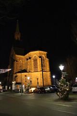Offenburg, the protestant town church at night (2) (BZK2011) Tags: church canon nightshot nacht kirche offenburg nachtaufnahme sigma1850mmf28 evangelischestadtkirche eos100d protestanttownchurch