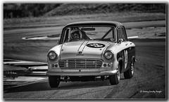 Standard Vanguard Vignale 1958 (jdl1963) Tags: historic racing thruxton motorsport motor blackandwhite bw black white monochrome standard vanguard vignale 1958