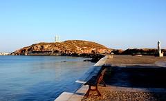 Naxos (ika_pol) Tags: naxos greece cyclades cycladesislands greekislands morning port geotagged mediterranean naxostown aegeansea sea aegean palatia protara apollo apollotemple