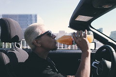 R0000540 (blotshots) Tags: losangeles 40oz beer sun glasses convertible