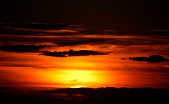 Good Night, See you in the Morning (alan.irons) Tags: sunset cloudsstormssunsetssunrises sunlight clouds silhouette orangeskies orange lastglimpse goingdown dusk canon eos yorkshire humberside axholme warm reds black