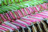 éclair stairs (overthemoon) Tags: france aquitaine bordeaux chartrons market éclairs pâtisserie green pink brown cakes icing colourful colorful bright sticky sweet
