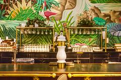 fancy bar (albyn.davis) Tags: colors colorful vivid bright vibrant bar symmetry hotel art green glassware