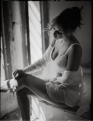 From a last summer shooting with Cristina  (lsmart) Tags: film analog mediumformat 120 ilford fp4 contax645 epson v800