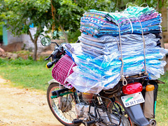 mobile clothes (VickVision) Tags: canon80d canon 80d canon80dwideangle 55250mm 55250mmisstm colours colourful streetphotography street photography photographer beauty streetsofindia india karnataka hampi travel tourist painttheroad road hats bags handbags design fashion