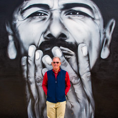 Scott Jordan Santana Style (Thomas Hawk) Tags: america bayarea california carlossantana mission missiondistrict pocketman sf sfbayarea sanfrancisco santana scottjordan scottevest usa unitedstates unitedstatesofamerica westcoast graffiti mural fav10 fav25