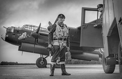 Appointment With The Unknown (70C Photography) Tags: monochrome lancaster avro aircraft outdoor canon7d tle eastkirkby lincolnshire bombercommand raf never forgotten people wwii jamescummins crew airfield