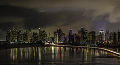 Panama Nights (Bernai Velarde-Light Seeker) Tags: panama night nights city lights buildings edificios apartments apartamentos sea mar ocean oceano pacific pacifico bernai velarde corredor sur