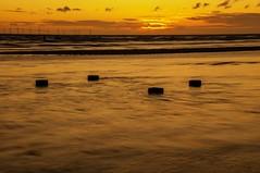 Placid (Tony Shertila) Tags: 20150827222638 blundellsands blundellsandsward england gbr geo:lat=5348117627 geo:lon=304615259 geotagged unitedkingdom europe britain merseyside anotherplace sunset weather day clouds cloudy sky outdoor cost water sea irishsea horizon dusk