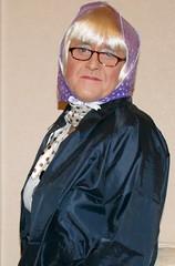 Navy Blue Nylon Mac (Miss Pakamac) Tags: pakamac raincoat rainwear nylonmac nylonraincoat nylonmack