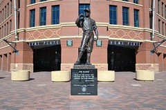 The Player (jpellgen) Tags: baseball stadium field mlb rockies colorado co denver milehighcity usa america nikon sigma 1770mm d7000 fall autumn travel downtown lodo coors coorsfield sports sculpture theplayer georgelundeen art