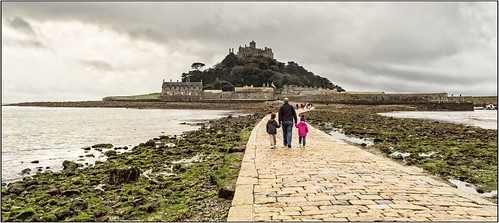 Walking to St. Michael's Mount