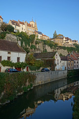 2016-10-24 10-30 Burgund 561 Semur-en-Auxois (Allie_Caulfield) Tags: foto photo image picture bild flickr high resolution hires jpg jpeg geotagged geo stockphoto cc sony alpha 77 france frankreich burgund bourgogne ctedor historic city altstadt semur en auxois semour stiftskirche notredame
