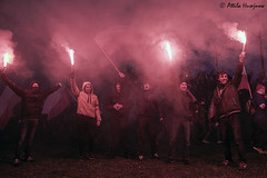 _ATI6190 b (attila.husejnow) Tags: nationalism nationalst poland warsaw farright far right burning flare flares march independence day mask flag ksenophobia xenophobia homophobia anti islam racist