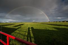 Convergence (niko'n) Tags: sunset nicolaspourtout pourtout nicolas nikon d800 coucherdesoleil champ grass herbe vert verte arcenciel rainbow ireland irlande irish